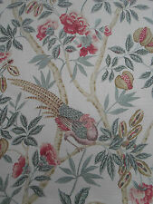 Sanderson Curtain Fabric 'Abbeville' Rose/Calico 3.3 METRES  Fabienne Prints Col