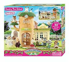 CALICO CRITTERS Country TREE SCHOOL TOY, 40+ Furniture Pcs & Acc Kids TREE HOUSE