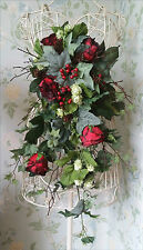 Autumn Winter Rose Christmas Hops Silk Brides Cascading Wedding Bouquet Flowers