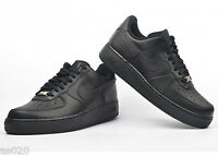 Nike Air Force 1 GS Boys Girls Kids Junior Low Running Trainers Shoes - Black