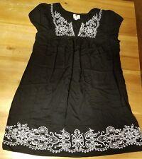 ONE CLOTHING WOMENS DRESS LARGE BLACK WHITE SPRING SUMMER BEACH POOL MEDIUM