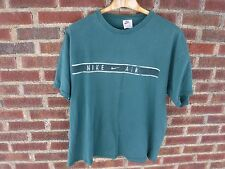1990's Vintage Nike Air Green Stripe Graphic T Shirt Beat SS Tee (XXL)