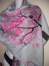 Haut femme en viscose bonsai imprimé gris pashmina scarf summer scarves châle large wrap