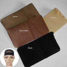 3Pc Wig Cap Breathable Stretchable Nylon Stretch Stocking Cap Nude Black coffee
