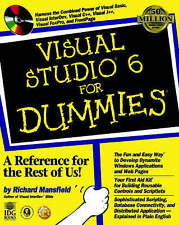 Visual Studio 6 For Dummies Mansfield, Richard Excellent Book