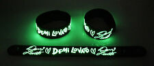 Demi Lovato NEW! Glow in the Dark Rubber Bracelet Wristband Let It Go gg161