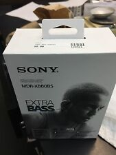 Sony EXTRA BASS MDR-XB80BS Bluetooth Wireless Sports In-Ear Headphones Black