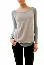 Free People Women's New Friday Feeling Tee Top Waterfall Combo RRP £46 BCF71
