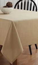 "BURLAP NATURAL TABLE CLOTH  60X60"" HEMMED COTTON WOVEN INTO BURLAP"