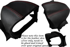RED STITCHING FITS LOTUS ELISE 2008-2013 SPEEDO GAUGE HOOD LEATHER COVER ONLY
