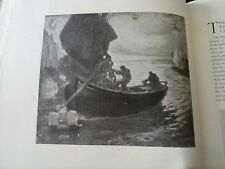 Original 1914 Print with Might and Main by Koopman Art Studio Lifeboat RNLI