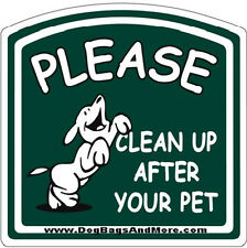 Aluminum Please Clean up After Your Pet Sign, Dog Poop Clean Up Signage #34