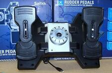 Saitek Pro Flight Rudder Pedals for PC == BAD RIGHT TOE== AS-IS ===