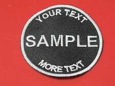 3 inch round custom embroidered patch motorcycle biker