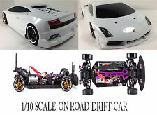 1/10 Lamborghini RTR Custom RC Drift -Cars 4WD 2.4Ghz & Charger WHT