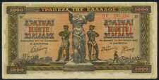 Griechenland / Greece 5000 Drachmen 1942 Pick 119a (3)