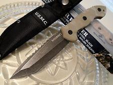"""United USMC Licensed Desert Fighter Tanto Combat Knife Full Tang G10 3150 10"""" OA"""