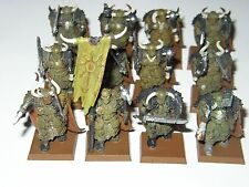 WARHAMMER-CHAOS-12 WARRIORS OF CHAOS-NURGLE-PAINTED-PLASTIC