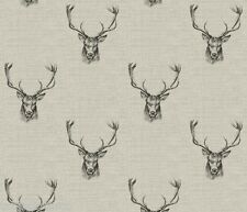 "1m/39"" stag head wipe clean oilcloth pvc cotton fabric christmas TABLECLOTH CO"