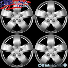"4 NEW OEM SILVER 16"" HUB CAPS FITS SUBARU SUV CAR AWD ABS CENTER WHEEL COVER SET"