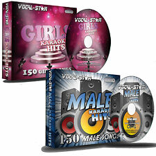VOCAL-STAR MALE & GIRLS KARAOKE DISC PACKS 300 SONGS 16 CDG CD+G DISCS