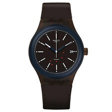 Swatch SUTC401 Men's Sistem Fudge Brown Band Automatic Watch