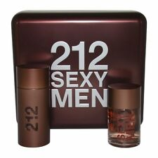Carolina Herrera 212 Sexy Uomini Gift Set 100ml EAU DE TOILETTE SPRAY + 100ml dopo