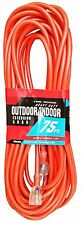 75-Ft Extension Cord 12 Gauge AWG Heavy Duty NEW 12/3 Foot Feet