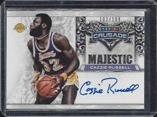 CAZZIE RUSSELL 2013-14 PANINI CRUSADE MAJESTIC LAKERS ON CARD AUTO #D 103/199