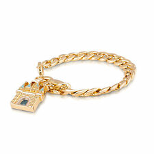 Disney Couture 14kt Gold-Plated Magic Castle Curb Link Charm Starter Bracelet