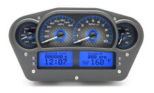 Dakota Digital Universal Competition Analog Gauges Carbon Fiber / Blue VHX-1100