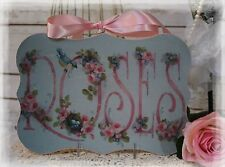 """Birds & Roses"" Vintage~Shabby Chic~Country Cottage style~Wall Decor Sign"