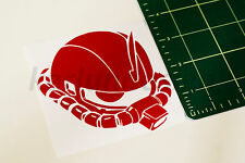 GUNDAM ZAKU Head Vinyl Decal Sticker manga anime car window wall decal