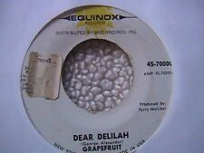 "GRAPEFRUIT ""DEAR DELILAH"" / ""DEAD BOOT"" 7' 45 PSYCHEDELIC GARAGE AC/DC RELATED"
