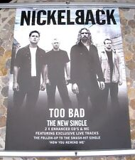 NICKELBACK Too Bad promo poster 30 x 20 2000 original