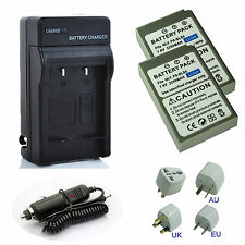 2x BLS-5 BLS-50 Battery + Charger f Olympus E-P3 E-M10 E-PL1 E-PL1s E-PL2 E-PL3