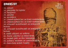 THE WICKER MAN Card # 54 individual card, issued in 2014 by Unstoppable Cards