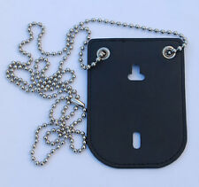 OFFICER STYLE BADGE CLIP/NECK HANGER COMBO W/CHAIN-33029