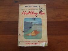 Vintage 1947 Huckleberry Finn hardback book World Publishing as is
