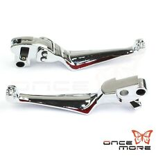 Skull Clutch Brake Lever Hand Control For Harley Road King Street Glide 96-07