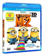 Cattivissimo Me 2 3D + occhialini ( Blu Ray 3D + Blu Ray) Nuovo