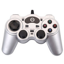 New USB Wired laptop PC Gamepad Controller Joypad Sensitive Joystick Silver