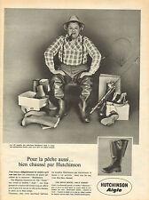 Publicité 1961  Chaussures HUTCHINSON AIGLE botte collection mode