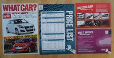 SUZUKI SWIFT SPORT orig 2012 UK Mkt Road Test Brochure + Price List + Accessory
