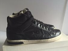 CONVERSE X JOHN VARVATOS WEAPON MID BLACK/TURTLE LEATHER SNEAKERS SIZE 12