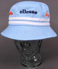 Ellesse Heritage 80s Bucket Hat in Sky Blue & White / new shape Lorenzo / retro