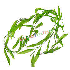 5X Artificial  Weeping willow Green Leaf Garland Fake Plant Home Decor 5.9ft