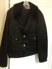 Vtg Super Chief Police Quilted Shiny Bomber Security Jacket Coat 2XL 50 52 52x28