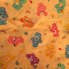 "80's Yellow Care Bears Kids Sewing DIY Fabric Material Retro Nostalgic 50""x 44"""