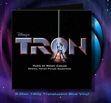 Tron - 2 x LP Complete - Limited Edition - OOP - Blue Vinyl - Wendy Carlos